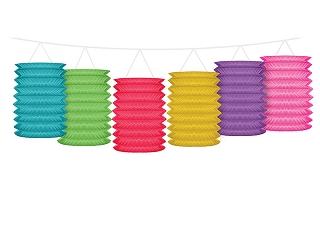 Girlanda z lampionami, mix kolorów / 3,6 m