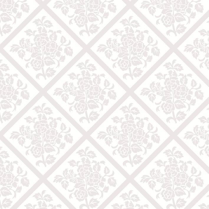 """Serwetki flizelinowe wzorzyste """"Damast"""", białe / 40x40"""
