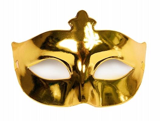 Maska karnawałowa Wenecka złota / MAS1-019