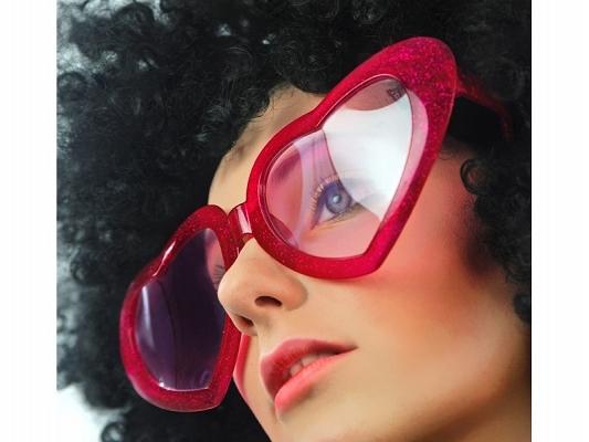 Okulary Mega Serca czerwone / OKR1-007
