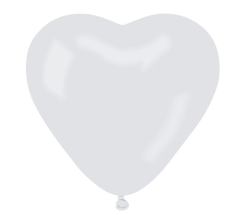 Balony lateksowe CR białe Serca