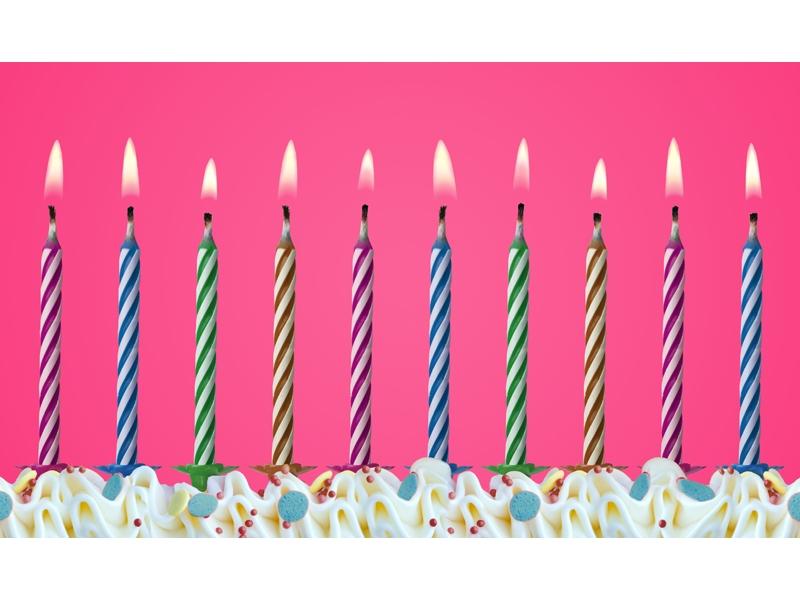 """Świeczki urodzinowe """"Magiczne"""" - niegasnące"""