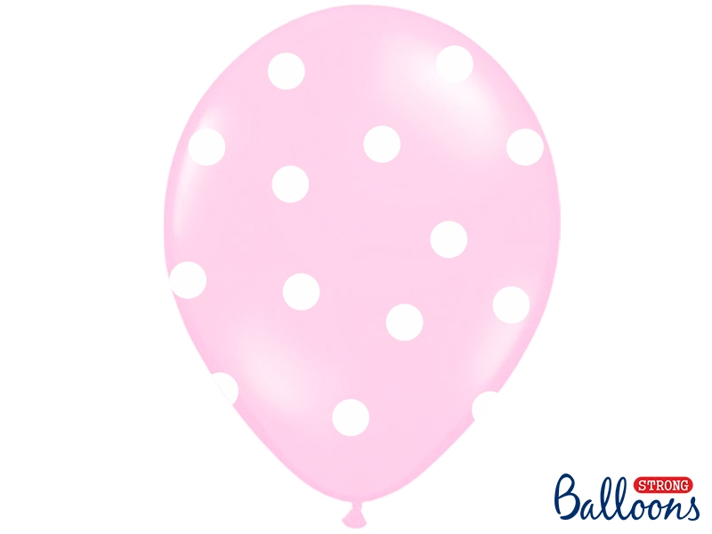 Balony na Narodziny dziecka lateksowe różowe ze Słonikiem / SB14P-256-000/6