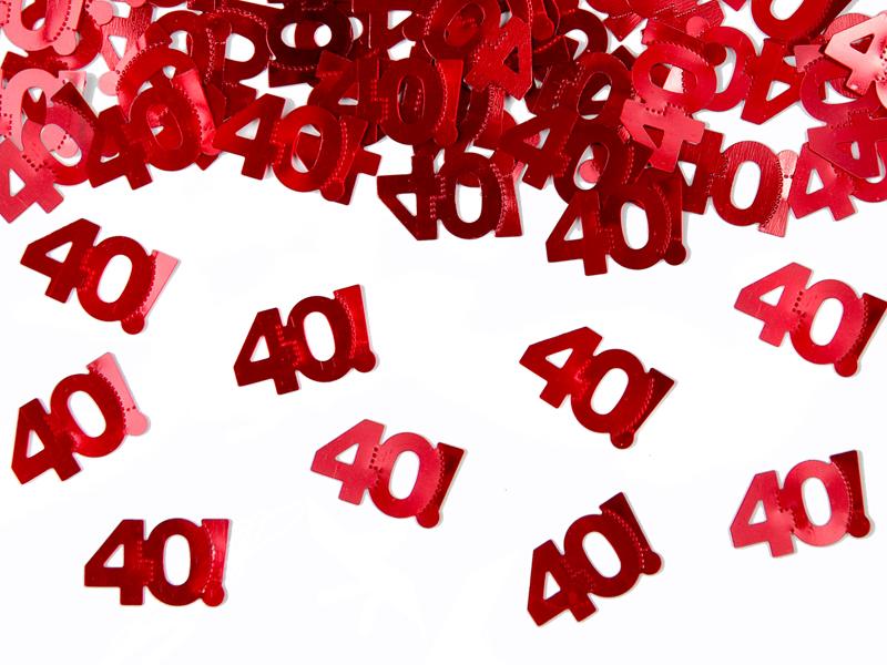 """Konfetti metalizowane cyferka """"40"""" / KONS35-40"""