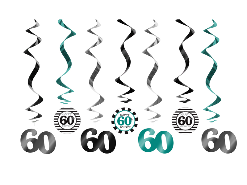 Świderki dekoracyjne na 60 urodziny / SWID18