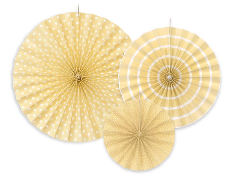 Rozety dekoracyjne, kremowy / średnica 23,32 i 40 cm