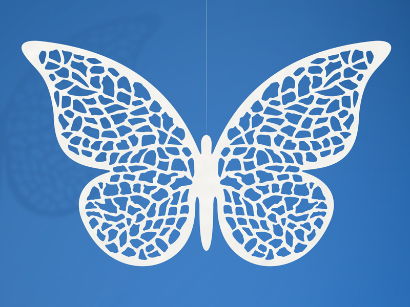 Dekoracje papierowe Motyl/ 8x5 cm