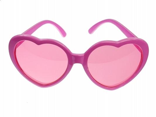 Okulary Serduszka różowe