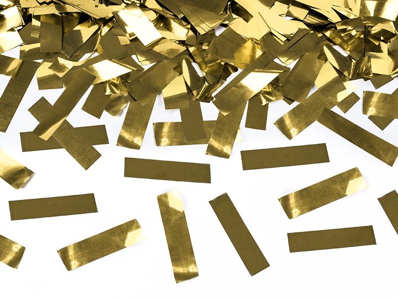 Tuba wystrzałowa konfetti - metalizowane, złote konfetti / 60 cm