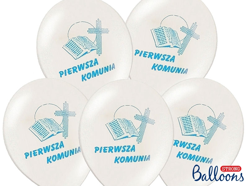 Balony Komunijne I Komunia Święta / SB12P-109B-008/6