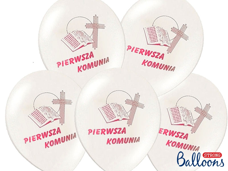 Balony Komunijne I Komunia Święta / SB12P-109R-008/6