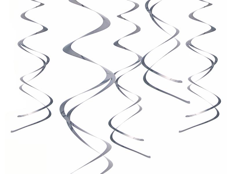 Świderki dekoracyjne srebrne / SWID20-018