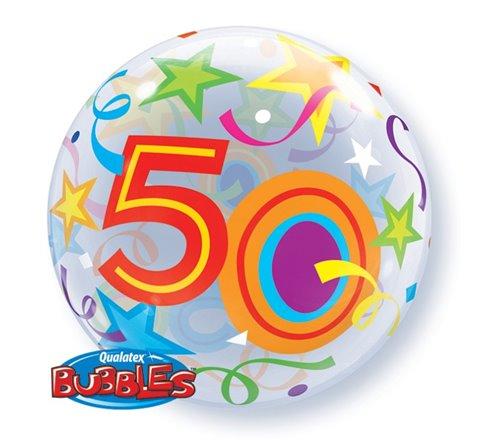"Balon foliowy Bubble ""Liczba 50"", 55 cm / 24171"