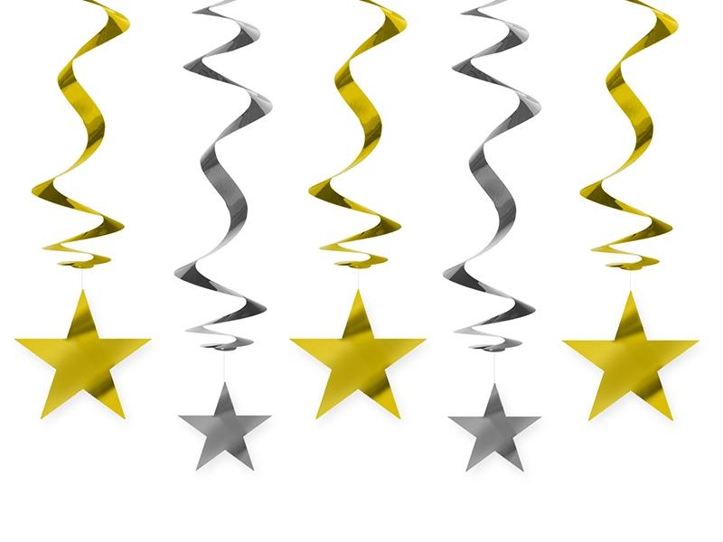 Świderki dekoracyjne złote Gwiazdki / SWID25
