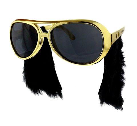Okulary z baczkami Elvis