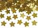 Tuba wystrzałowa konfetti - metalizowane, złote gwiazdki / 80 cm