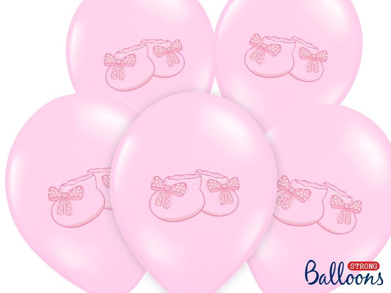 """Balony na Narodziny dziecka lateksowe """"Bucik"""" / SB14P-225-081J/6"""