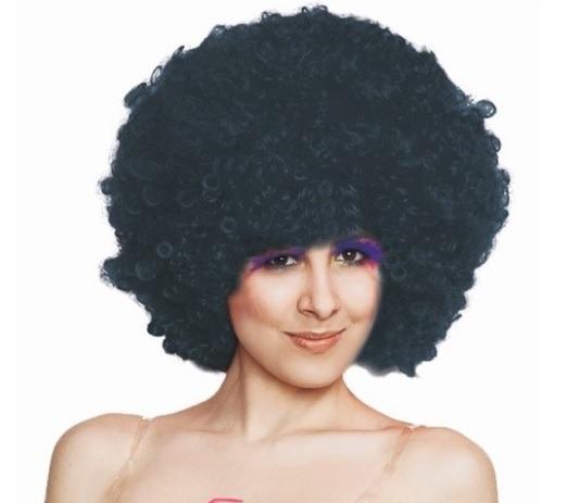 "Peruka czarna ""Afro"" / 57-78"