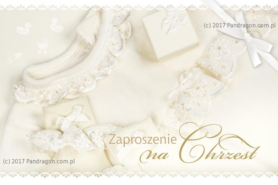 Zaproszenia na Chrzest Święty / Z.C6-510