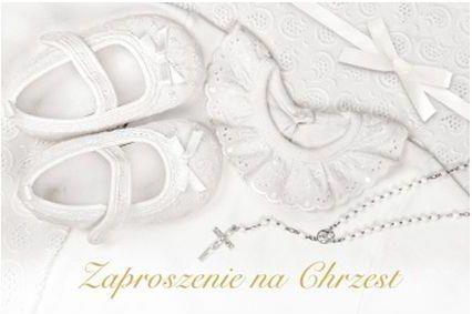 Zaproszenia na Chrzest Święty / Z.C6-509
