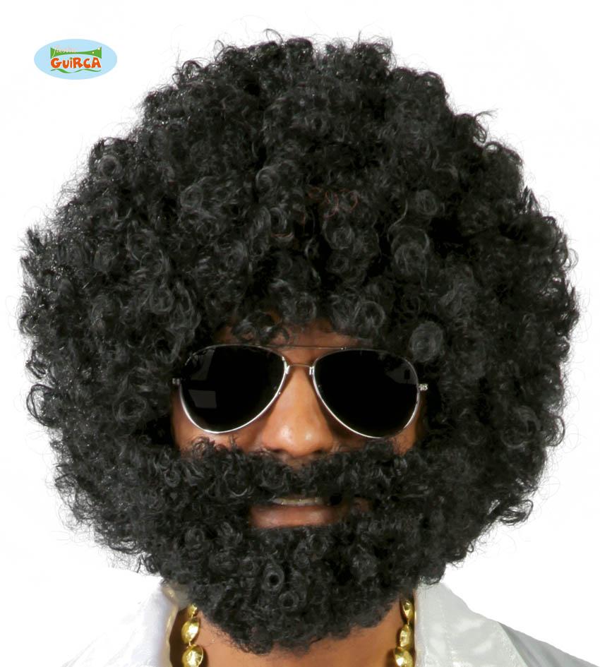 "Męska peruka ""Afro z brodą"" / 4869"