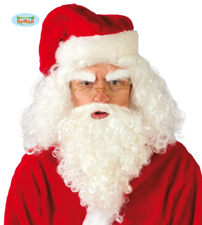 Peruka Świętego Mikołaja z brodą