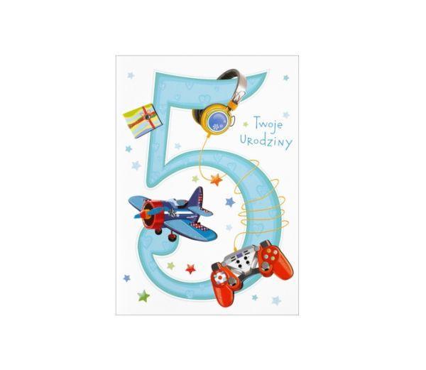 """Karnet """"Twoje urodziny 5"""" HM-200-985"""