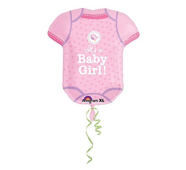 """Balon na Narodziny dziecka foliowy Śpioszki """"It is a Baby Girl"""" / 55x60 cm"""