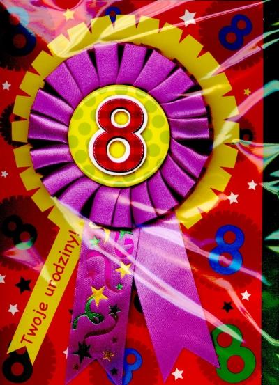 """Karnet Gift z przypinką """"Cyfra 8"""""""