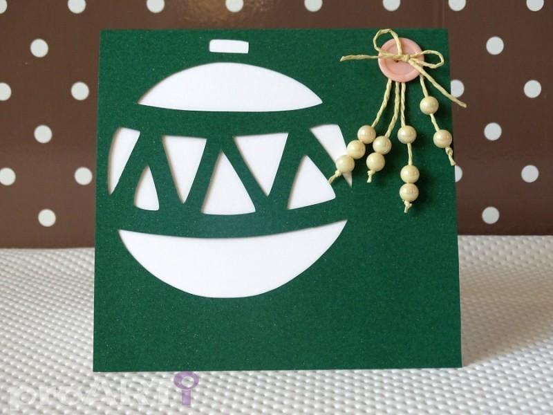 Ręcznie robiona kartka świąteczna na Boże Narodzenie / MKBN-002
