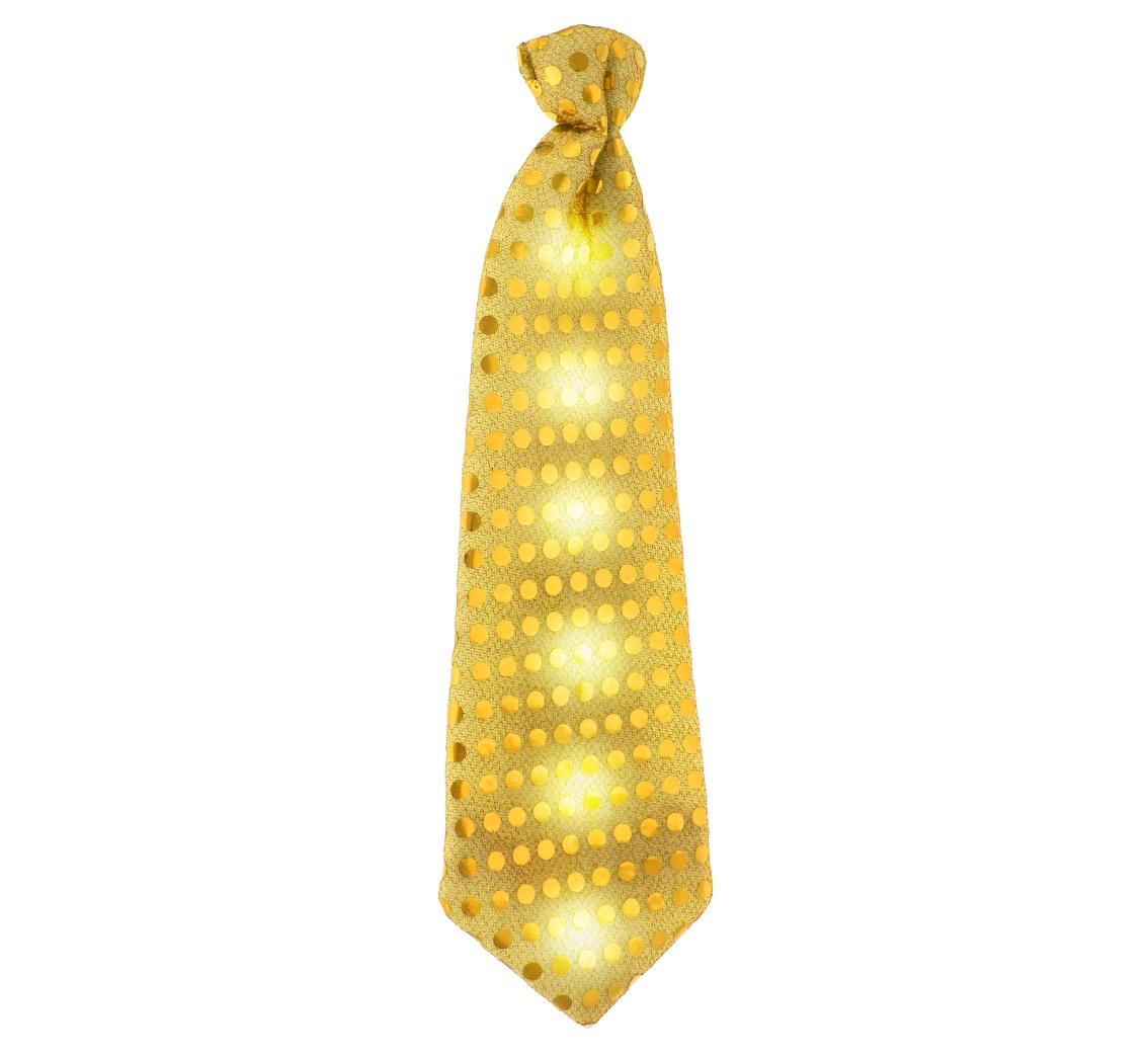 Złoty krawat świecący, cekiny