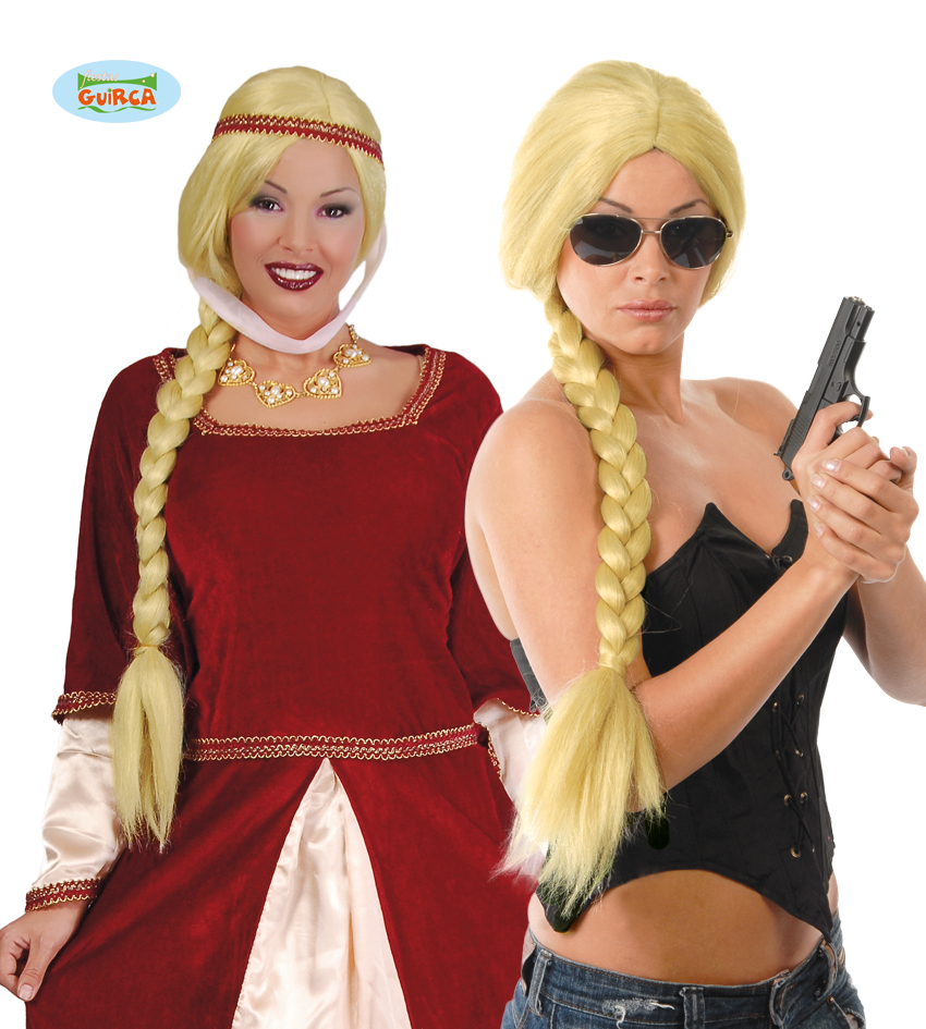 "Damska peruka ""Blond warkocz"" / 4226"