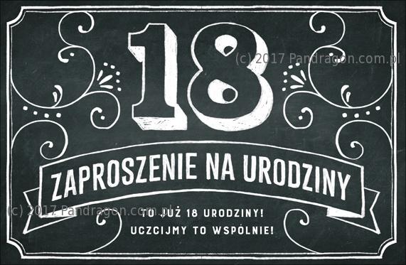 Zaproszenia na 18 urodziny w stylu Vintage / Z.C6-561
