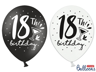 "Balony na 18 urodziny ""18 birthday"" / SB14P-246-000-6"