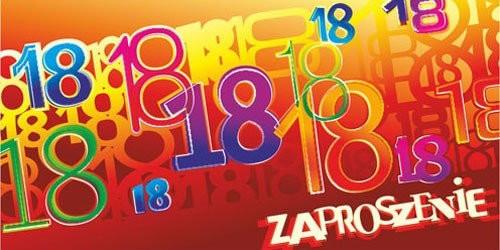 Zaproszenia na 18 urodziny / ZO-12
