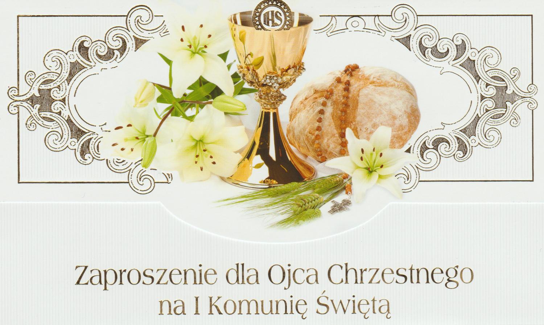 Zaproszenia Komunijne dla Ojca Chrzestnego I Komunia Święta / ZS_KOM_26566