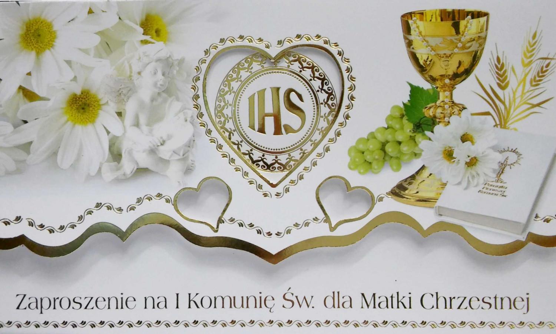 Zaproszenia Komunijne dla Matki Chrzestnej I Komunia Święta / ZS_KOM_26567