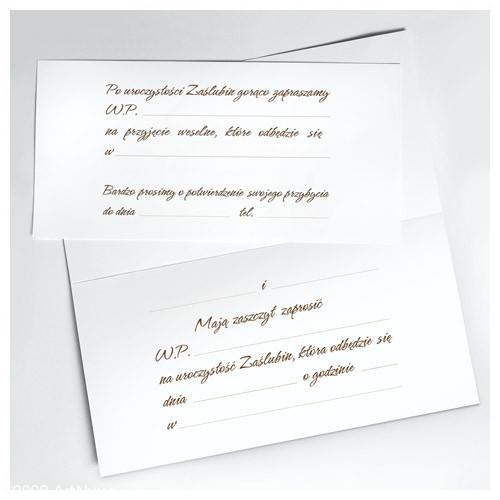 Zaproszenia ślubne / ArtN ZZ 05