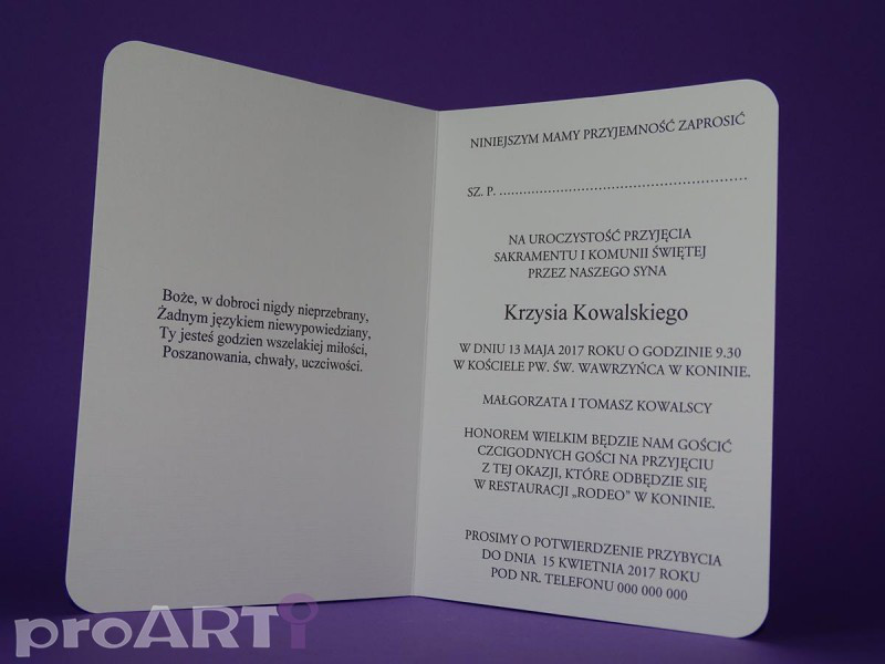 Zaproszenia komunijne MZK-VS17-002