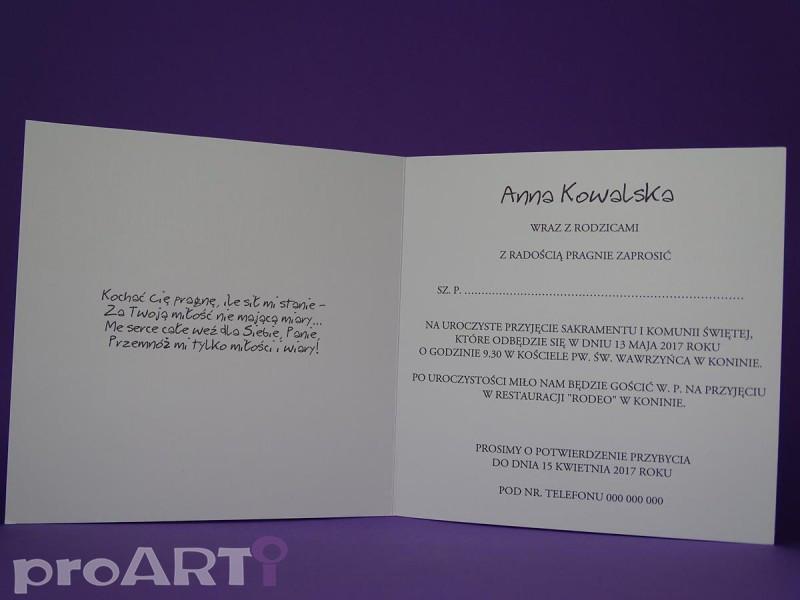 Zaproszenia komunijne MZK-OI17-008