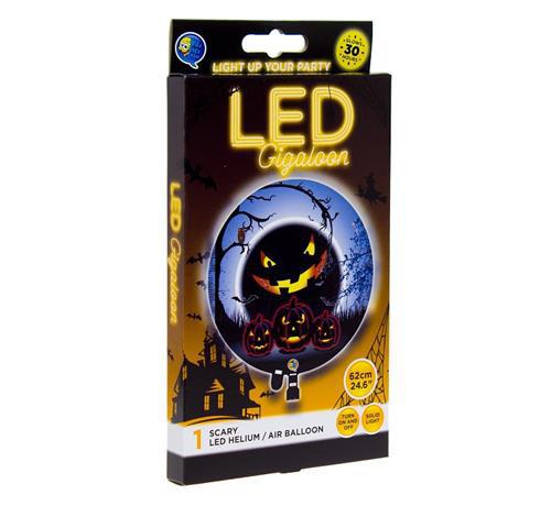"""Balon na Halloween świecący LED """"Dynia - Straszne Party"""""""