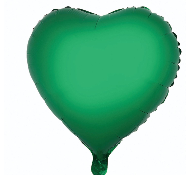 """Balon foliowy """"Serce"""", zielone, 36 cm"""