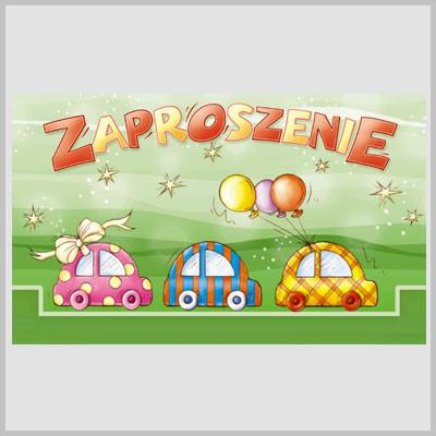 Zaproszenia na urodziny dziecka / MK-Z 205