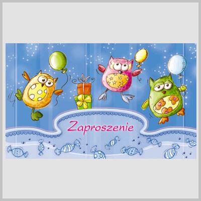 Zaproszenia na urodziny dziecka / MK-Z 207