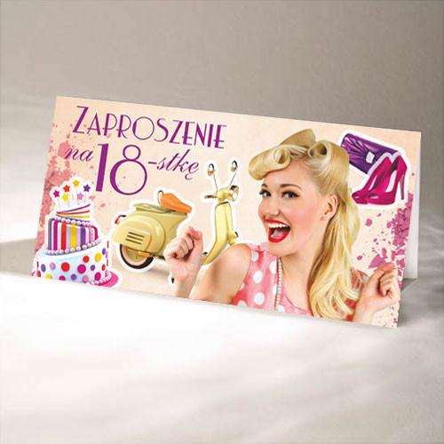 Zaproszenia na 18 urodziny / ArtN ZO-18