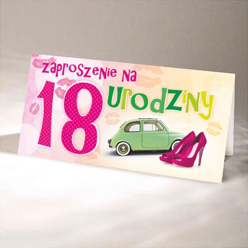 Zaproszenia na 18 urodziny / ZO-15