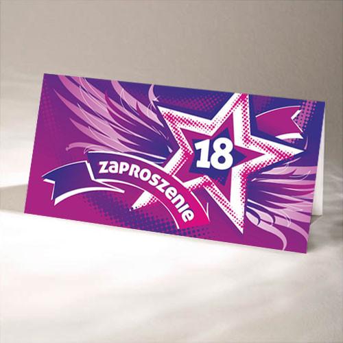 Zaproszenia na 18 urodziny / ZO-09