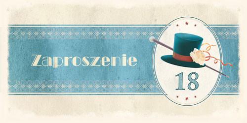 Zaproszenia na 18 urodziny / ZO-02