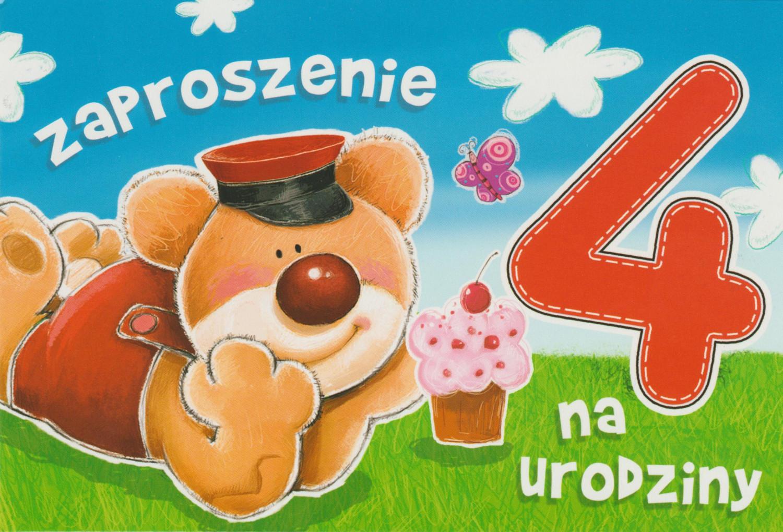 Zaproszenia na 4 urodziny / Z.C6-523