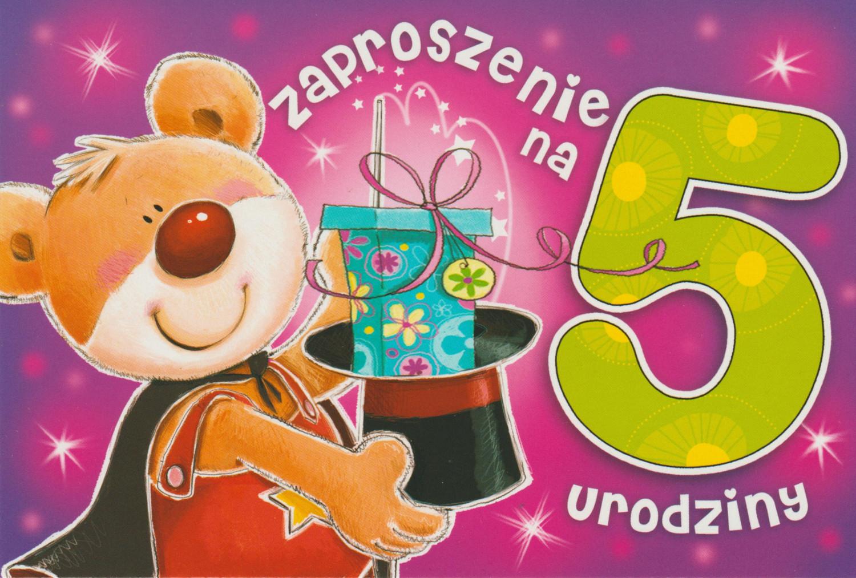 Zaproszenia na 5 urodziny / Z.C6-524